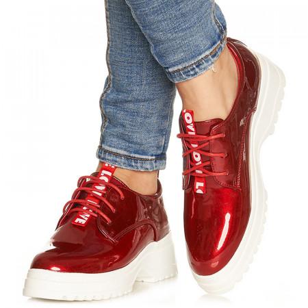 Pantofi sport cu talpa usoara din spuma Adria rosu