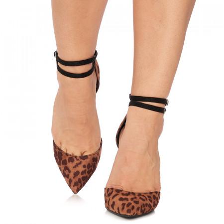 Pantofi stiletto cu toc inalt din velur Giuseppa