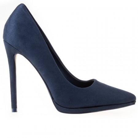 Pantofi stiletto cu toc inalt snake Antonia blu