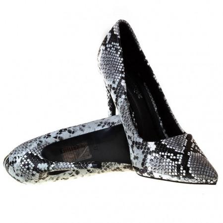 Pantofi stiletto cu toc inalt snake Martina