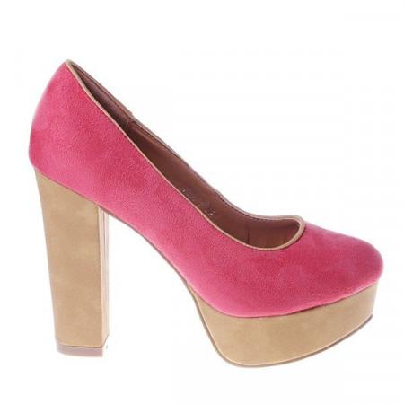 Pantofi West red/beige