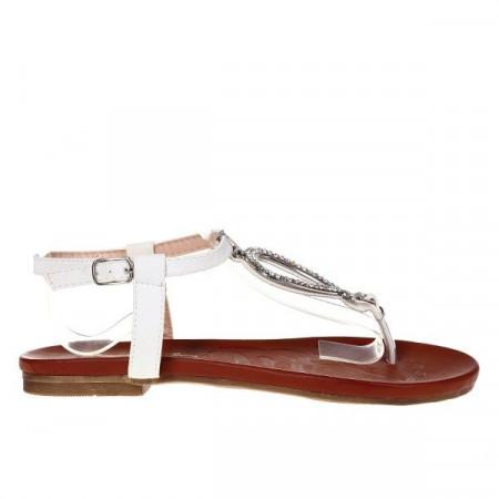 Sandale albe Viviene