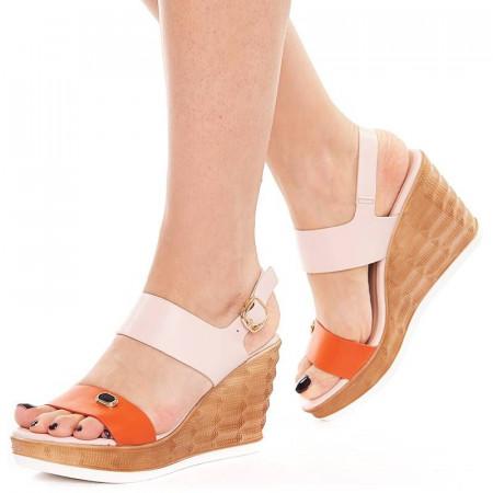 Sandale cu platforma Sherine arancia
