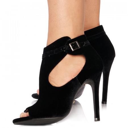Sandale cu toc inalt peep toe Alma