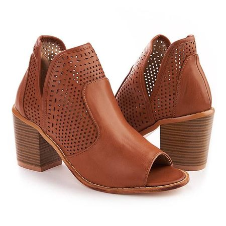 Sandale cu toc la moda Adriana Bej