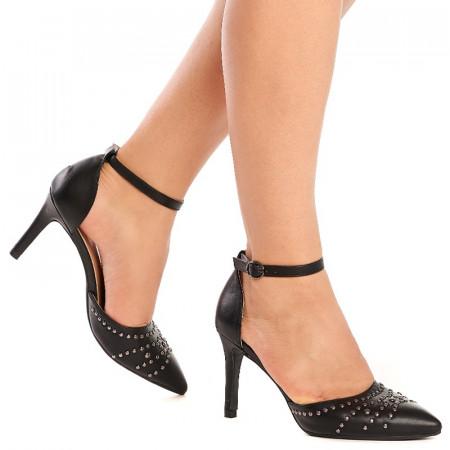 Sandale cu toc mediu si tinte Mara