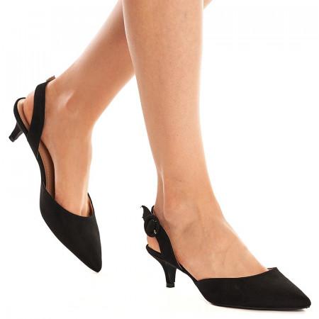 Sandale cu toc mic Mira negru