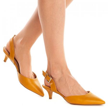 Sandale cu toc mic Sara galben