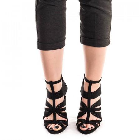 Sandale cu toc si barete Antonia negru