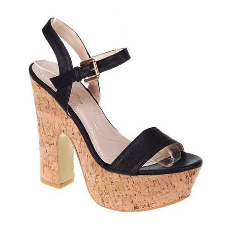 Sandale negre platforma Morticia
