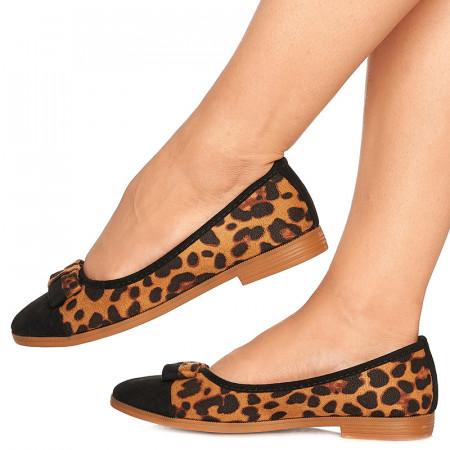 Balerini din velur Bonita leopard