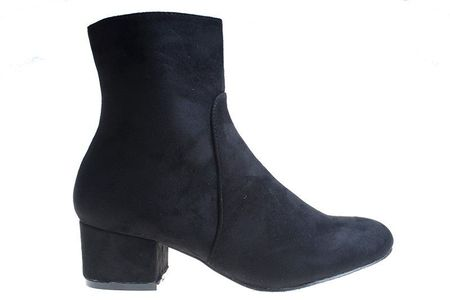 Botine cu toc office Amalia blk