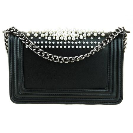 Clutch trendy cu tinte si perle Sandra