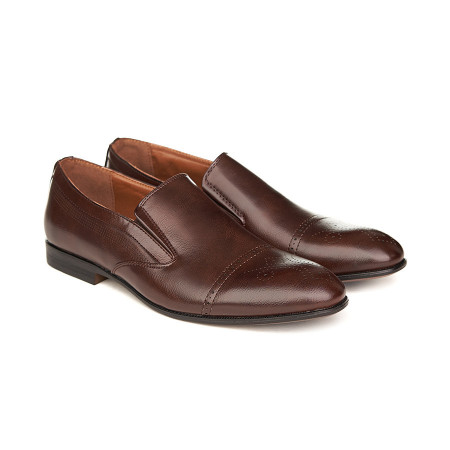 Pantofi barbati sport chic fara siret Sebi maro