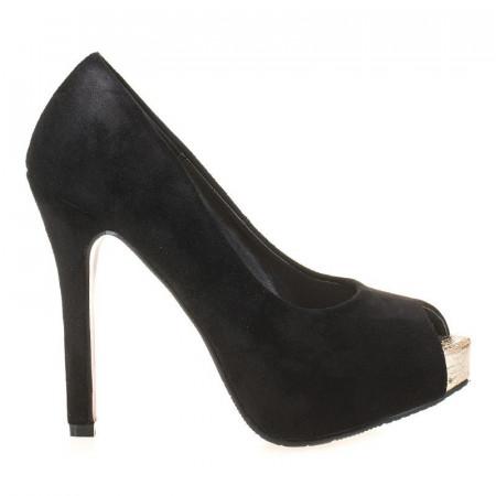 Pantofi cu platforma din velur Alma