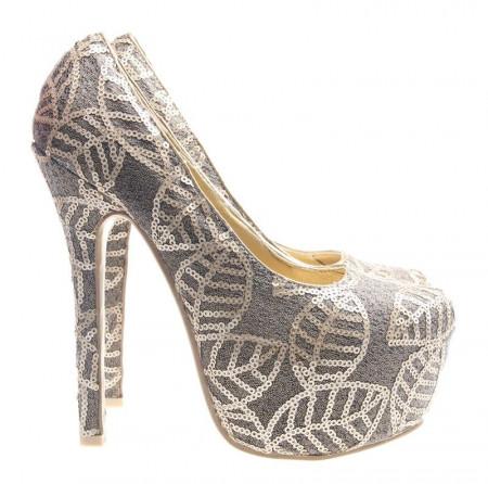 Pantofi cu platforma gold Juandalynn