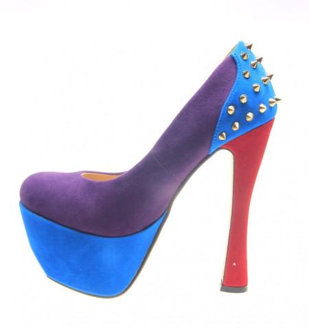 Pantofi dama mov Spider