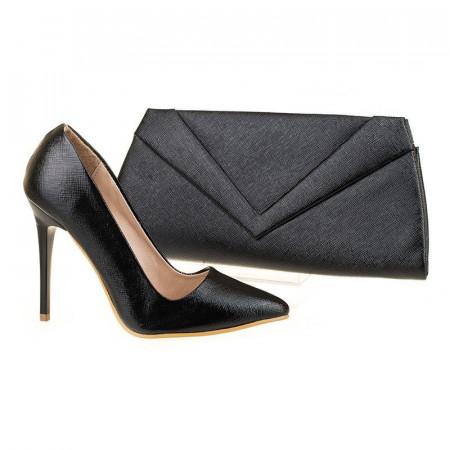 Pantofi de ocazie cu poseta inclusa Alessia