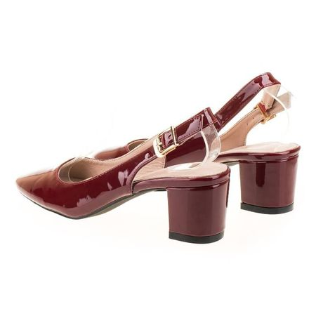 Pantofi office decupat Anita bordo