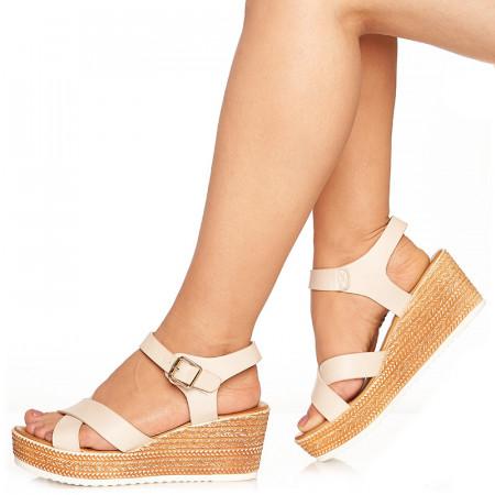 Sandale cu platforma Lorita nude