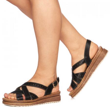 Sandale cu talpa joasa Grazia negru