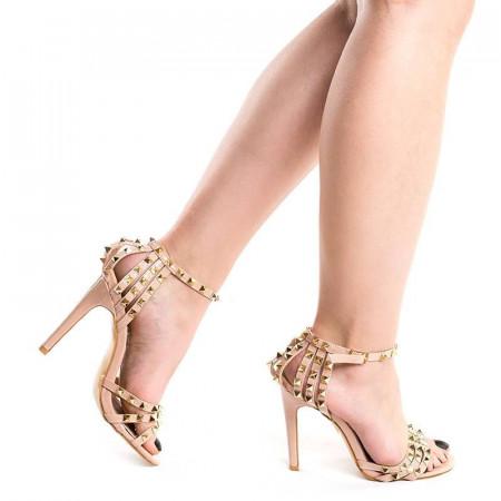 Sandale cu toc si tinte elegante Amira pink