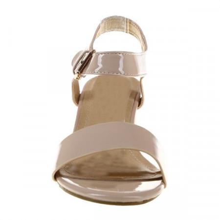 Sandale din lac cu toc Cristina