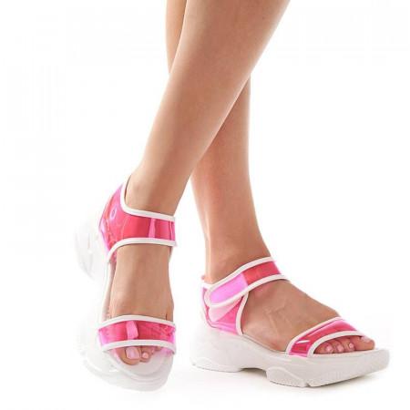 Sandale trendy cu talpa sport Camelia rose
