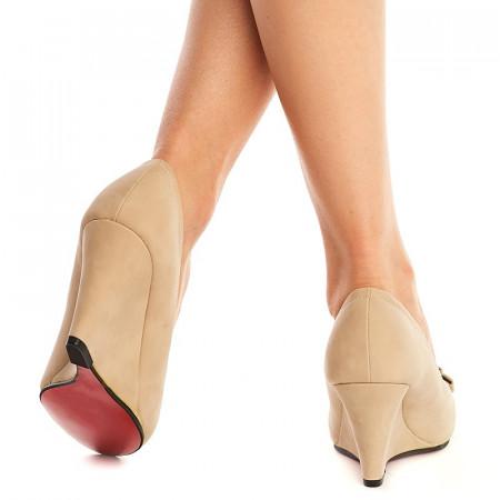 Pantofi cu platforma Theresa nude