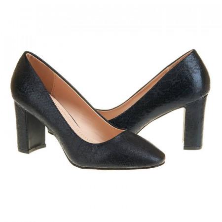 Pantofi office cu toc mediu Layla nero