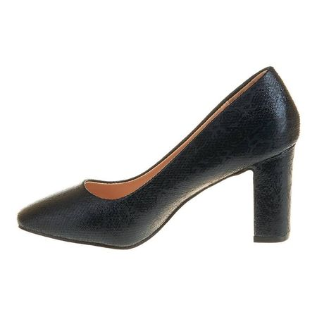 Pantofi office cu toc mediu Salma nero