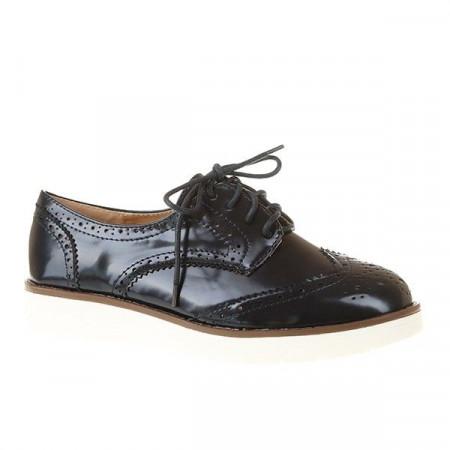 Pantofi oxford din lac Kimo