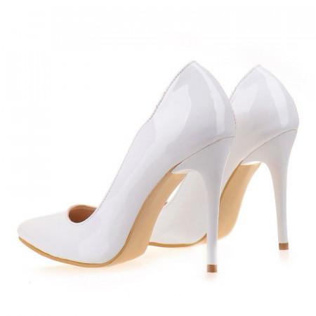 Pantofi stiletto Anette wht