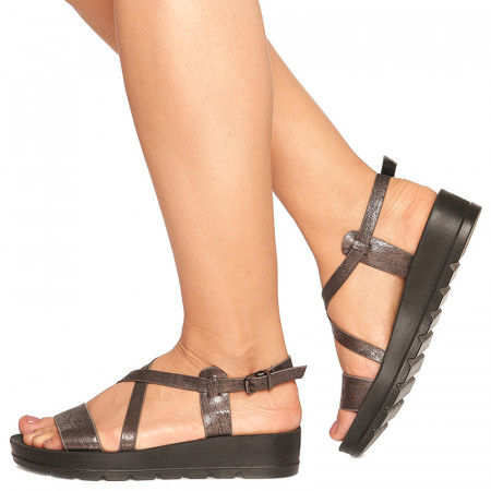 Sandale cu platforma Manuela negru