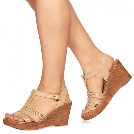 Sandale cu platforma Rosella bej