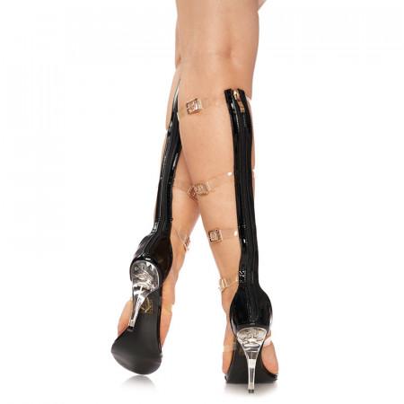 Sandale cu toc inalt deosebite Amalia negru