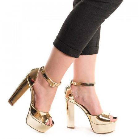 Sandale cu toc inalt si platforma Melinda