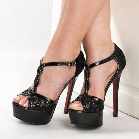 Sandale cu toc si platforma Anita