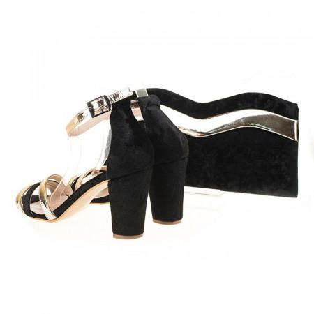 Sandale de ocazie din velur Blanche