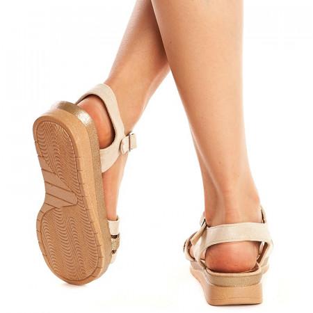 Sandale usoare cu talpa joasa Mira bej