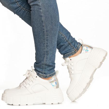 Sneakers Gloria alb