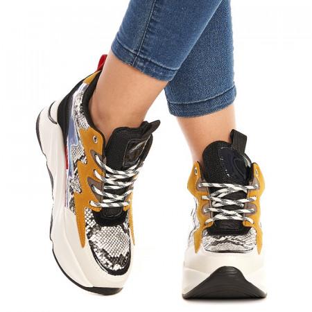 Sneakers Samanta Alb