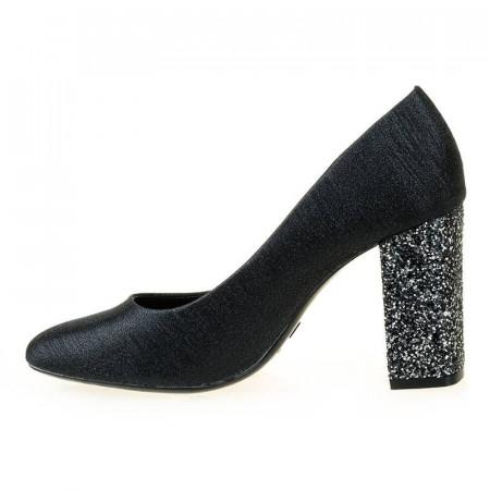 Pantofi de ocazie cu glitter in toc Nadine nero