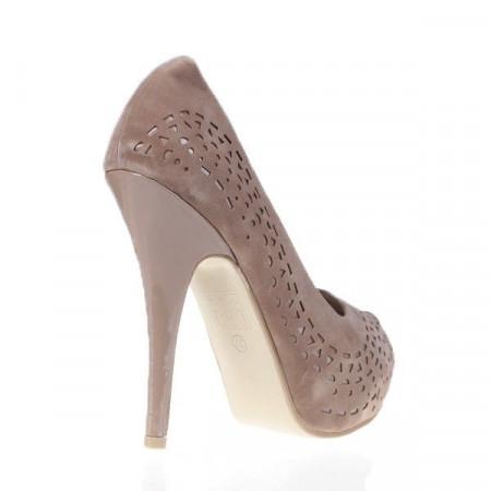 Pantofi Marielle beige/suede/pat