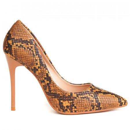 Pantofi stiletto cu toc inalt snake Camelia