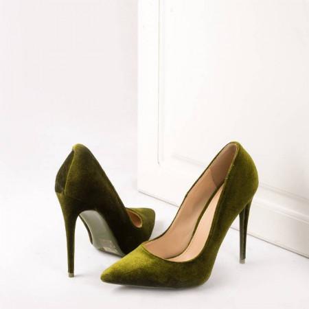Pantofi stiletto din velur Amira