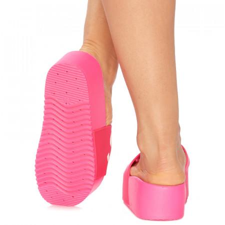 Saboti cu talpa inalta sport rich Super girl roz