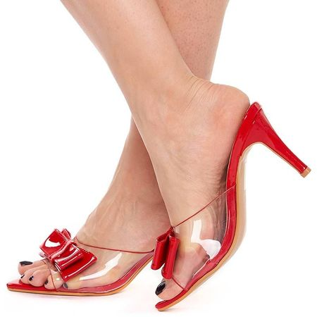 Saboti trendy cu toc mediu Olivia rosso