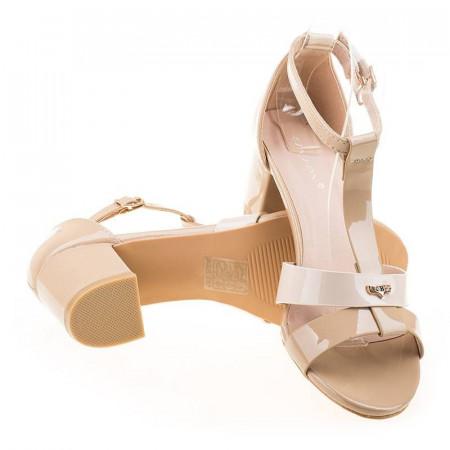 Sandale cu toc elegante Tania apricot