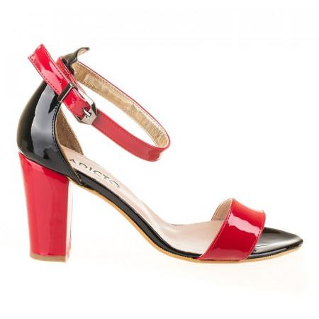 Sandale elegante cu toc Alma red